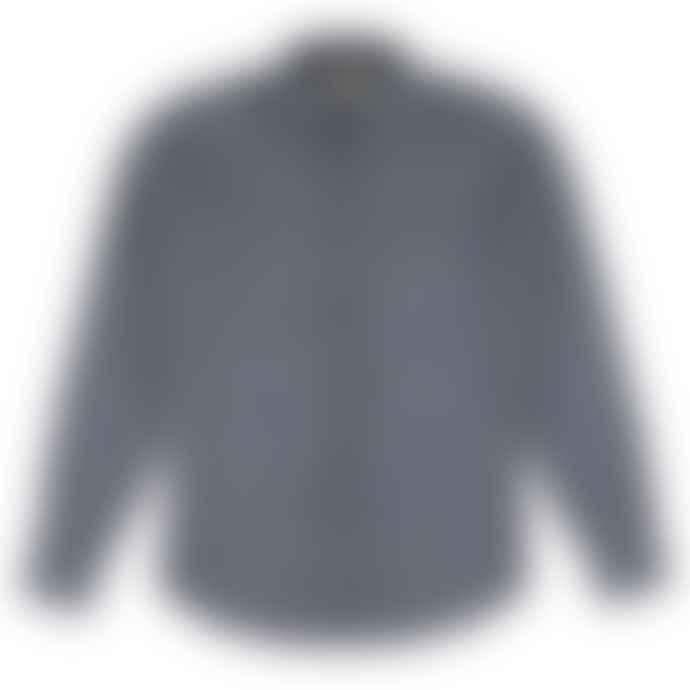 Castart Soutine Cotton Flannel Shirt Navy Blue
