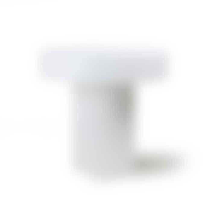 HKliving Pillar Coffee Table Round - White