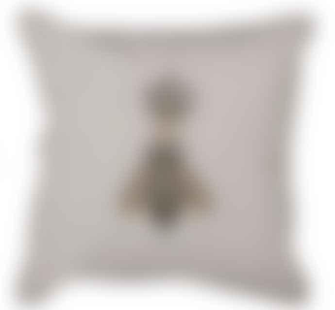 Bramley & White Queen Bee Cushion