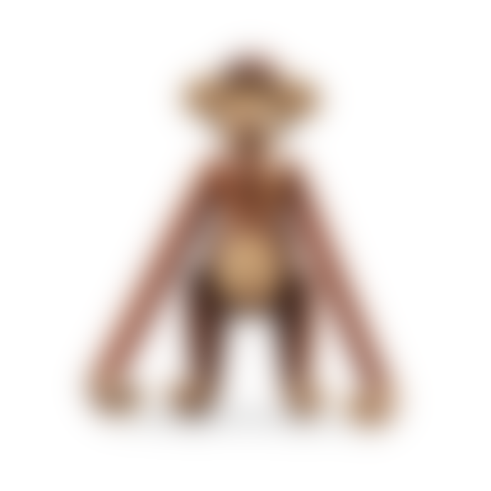 KAY BOJESEN DENMARK Medium Teak Limba Monkey Figurine
