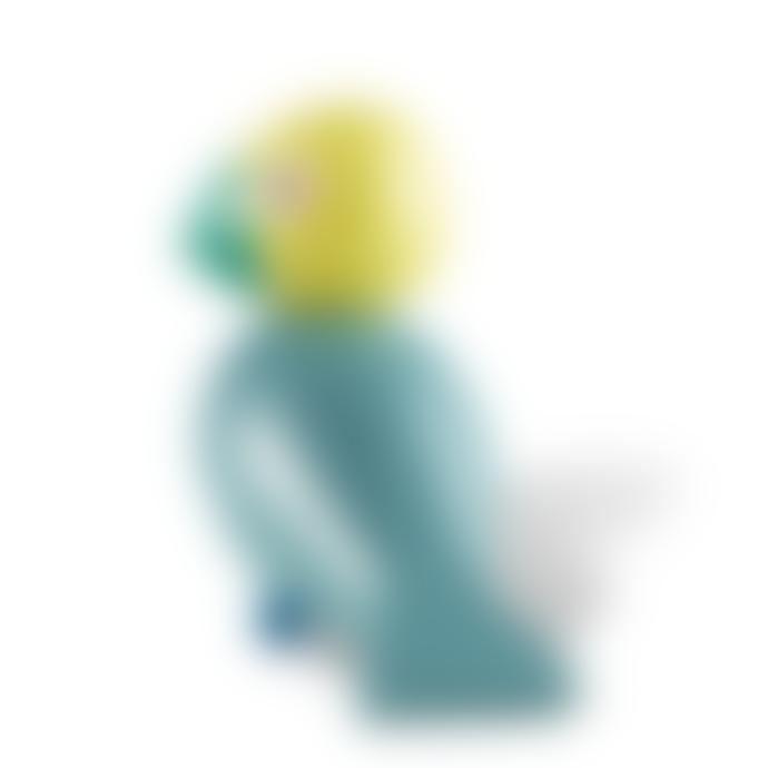 KAY BOJESEN DENMARK Turquoise Yellow Sunshine Songbird Figurine