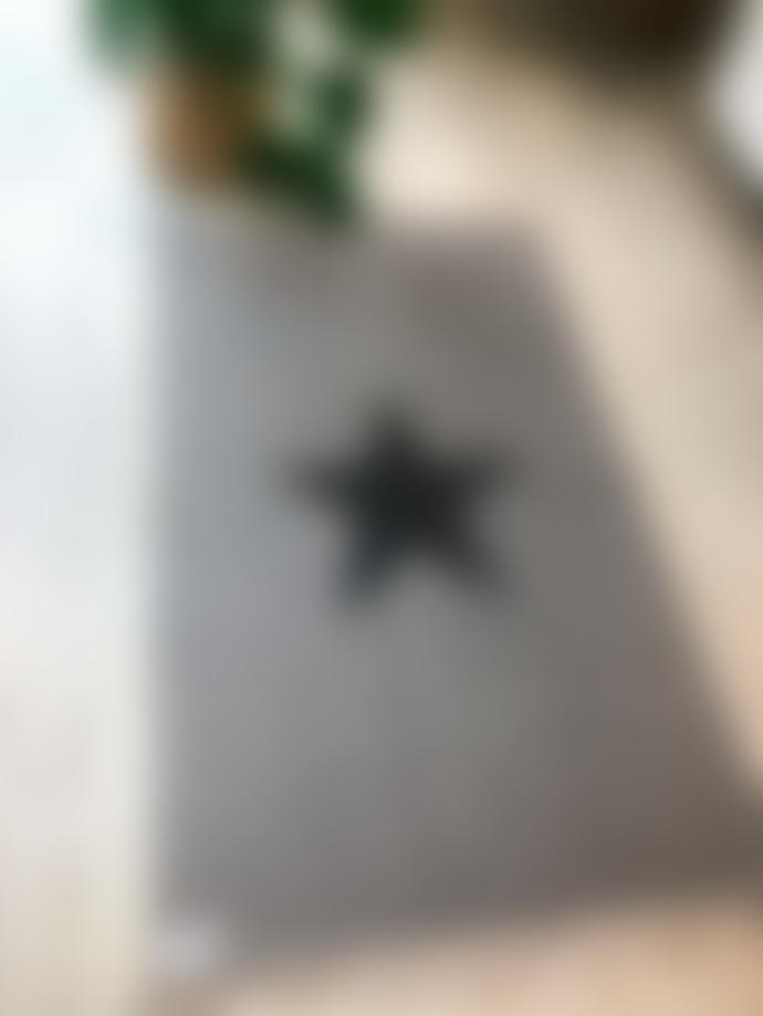 Luna Large Grey Rug with Black Star