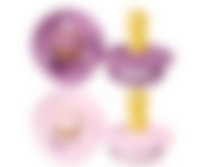 Bibs Pack 2 Pacifiers Bibs Latex - Lavender  / Baby Pink