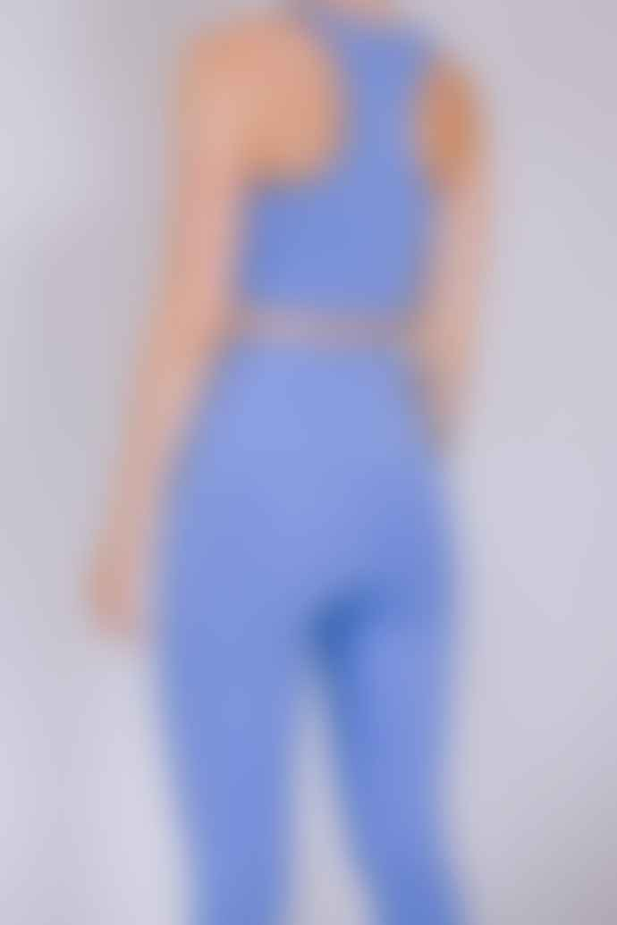 Girlfriend Collective High Rise Recycled Compression Cropped 7 8 Leggings Periwinkle