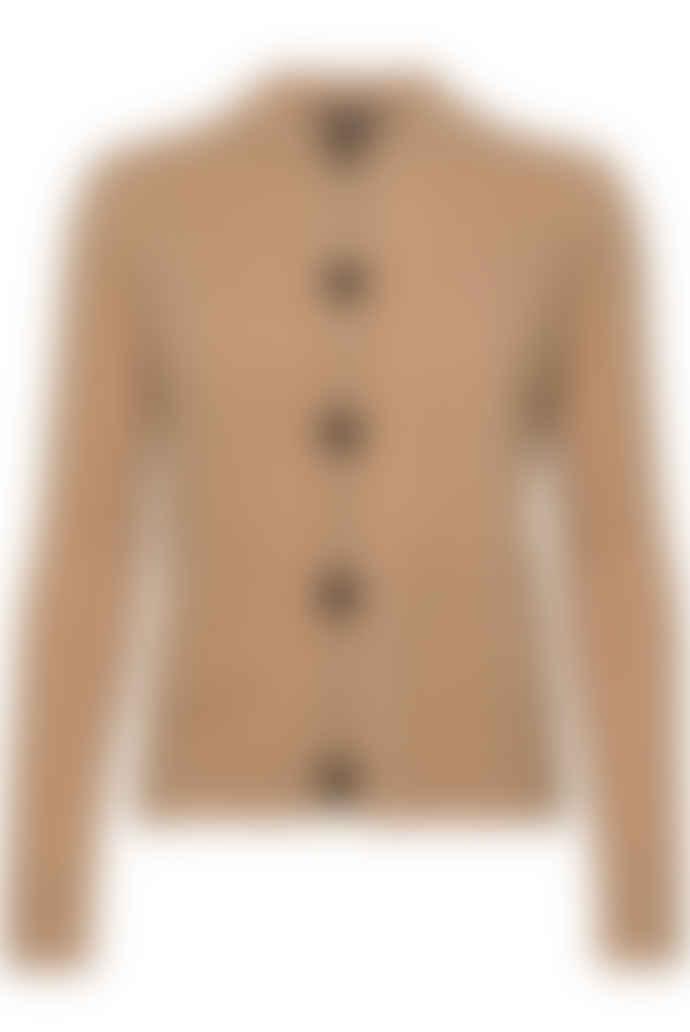 Weekend MaxMara Circolo Wool Yarn Cardigan - Camel