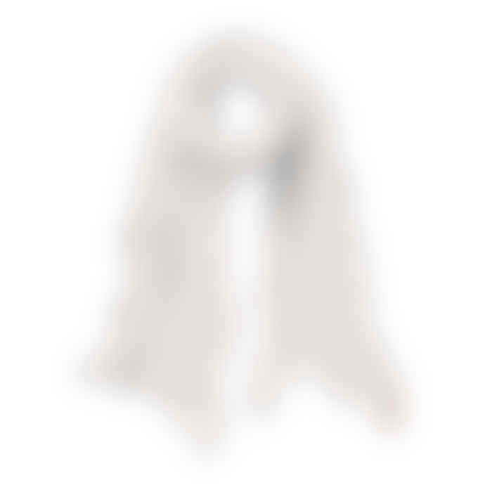Pur Schoen Hand Felted Cashmere Soft Scarf - White