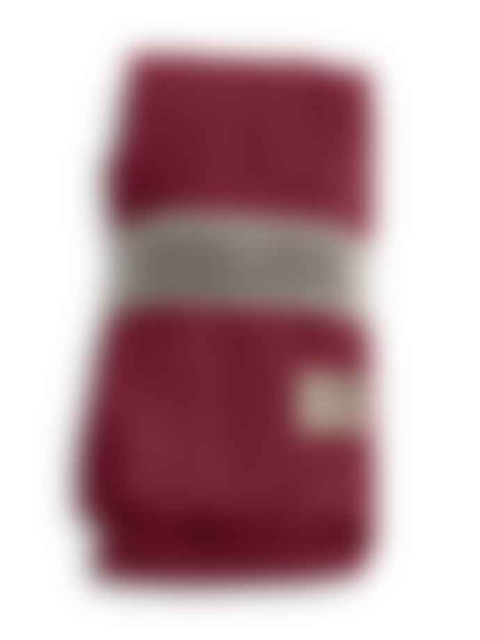 Lovely Linen 100% Linen Table Cloth in Cabernet (Size M)