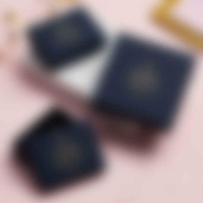 Posh Totty Designs T Bar 9ct Gold Pull Through Earrings