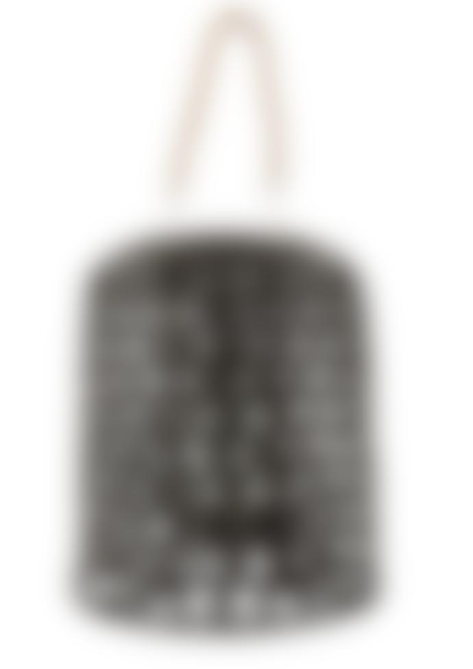 J-Line Hanging Birdy Lantern Black Rattan