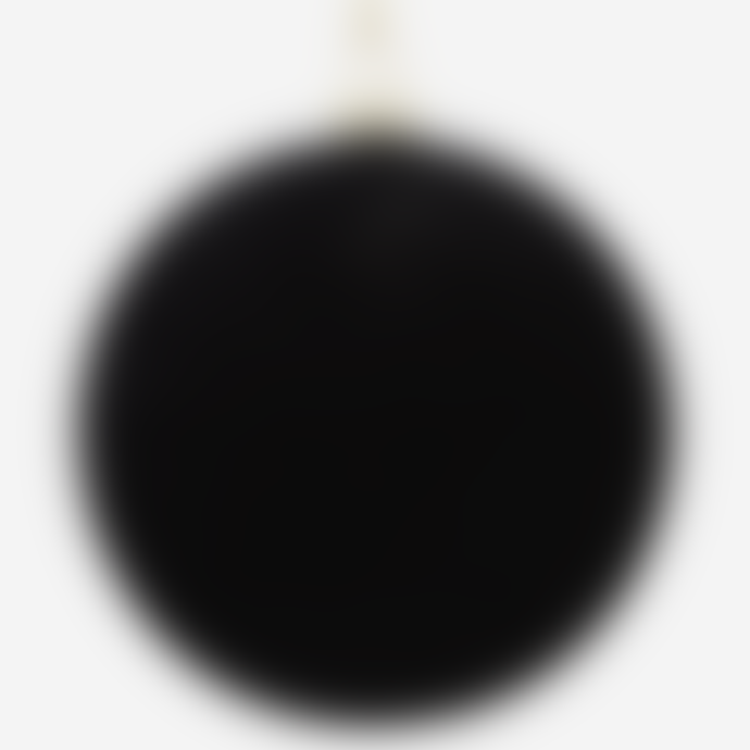 Madam Stoltz Hanging Velvet Ball, Black