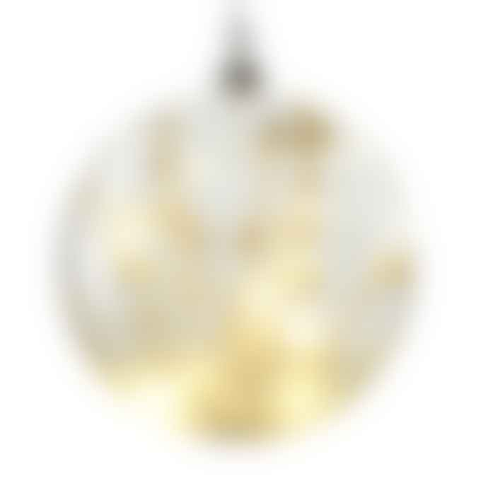 Hyde And Seek Large Glass Light Up Bauble with Natural Flowers