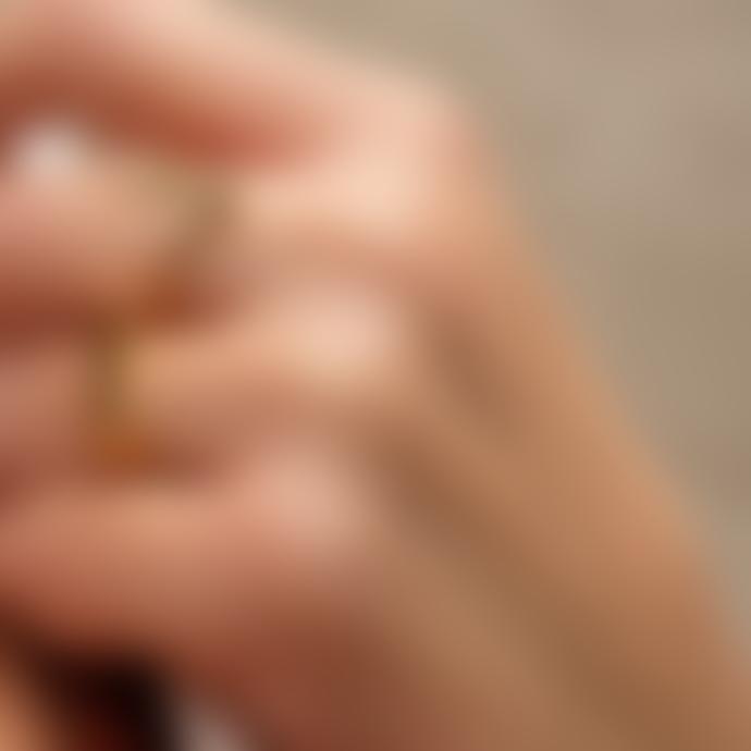Nordic Muse 18k Gold Vermeil Signet Ring, Adjustable Size