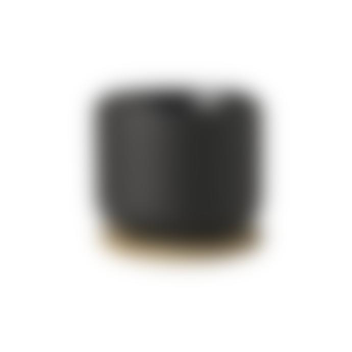 Stelton Black Theo Tea Mug with Coaster