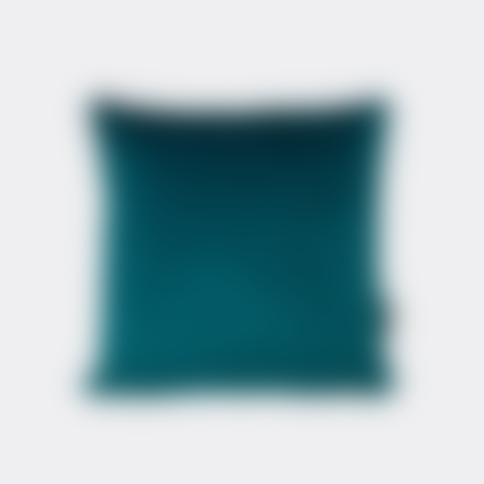 Pura Cal Teal 3D Velvet Cushion Cover 45X45 cm