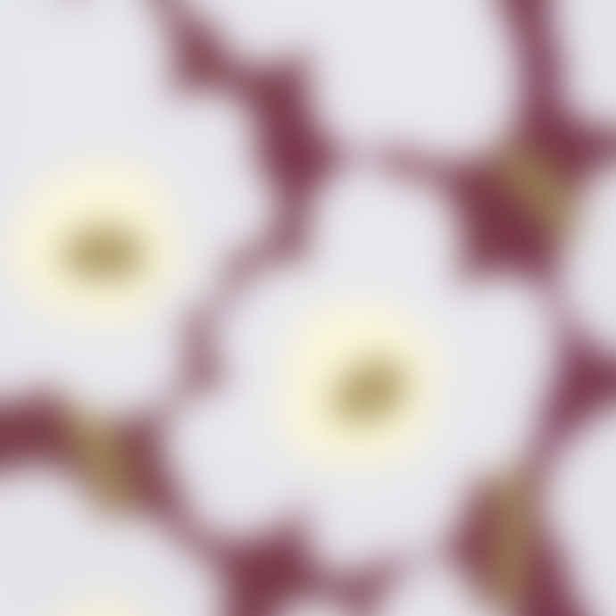 Marimekko Unikko Bordeaux Lunch Paper Napkins