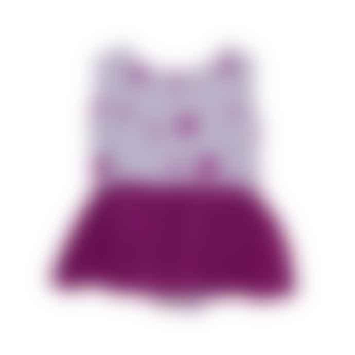 Noe & Zoe Berlin Noe Zoe Purple Stars Baby Dress