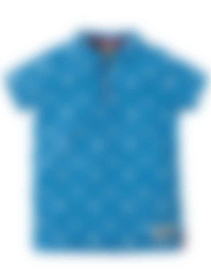 Frugi Aqua Blue Penwith Polo Shirt