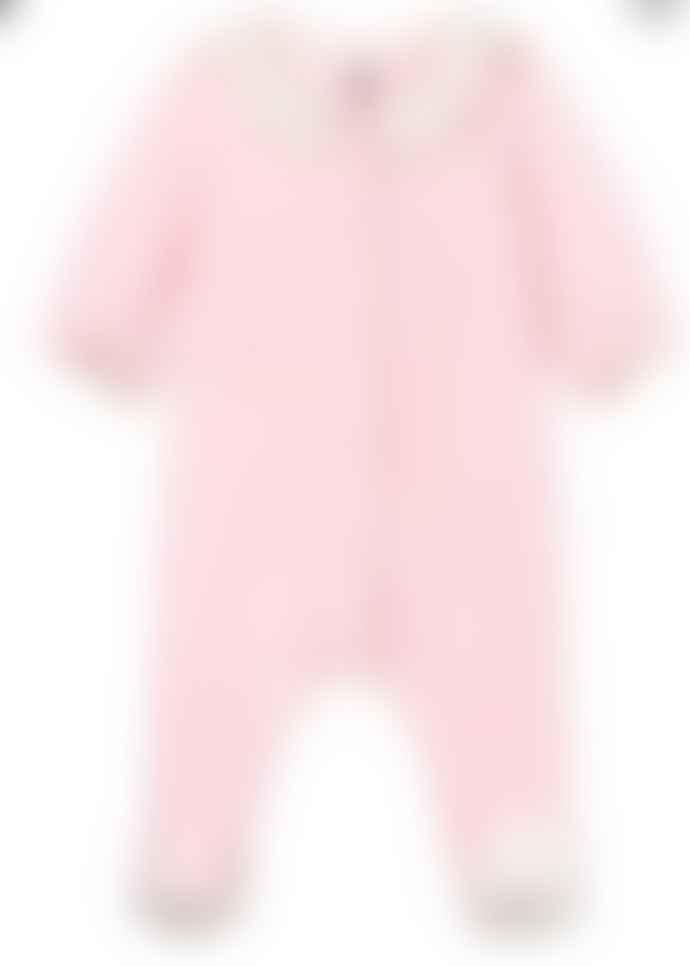 Petit Bateau Pink Velour Sleepsuit
