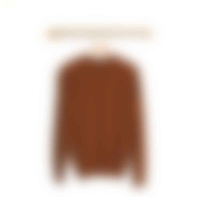 Le Mont St Michel Stevan Alpaca Sweater Brown