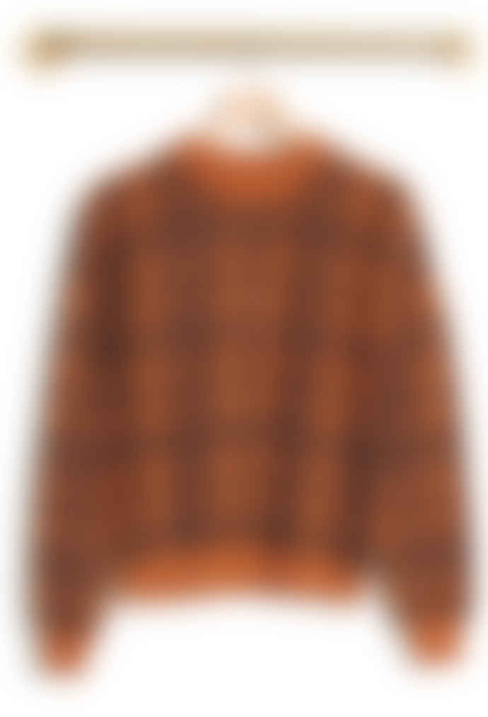 Le Mont St Michel Sadie Check Sweater Curry