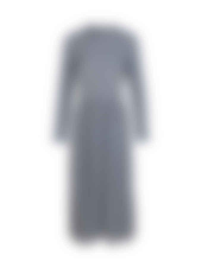Mads Norgaard Flexi Pop Docca Dress Navy/White