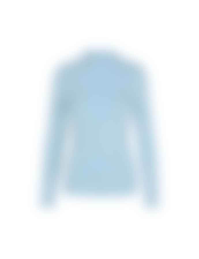 Mads Norgaard 5x5 Eco Rib Trutte Light Blue Blouse