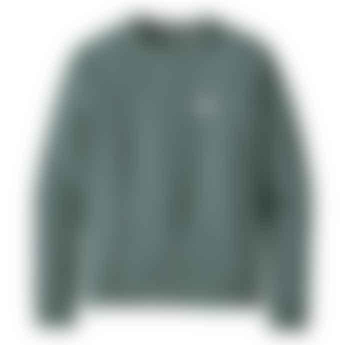 Patagonia Womens Pastel P 6 Label Organic Crew Sweatshirt Regen Green