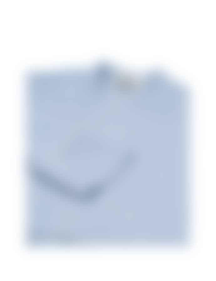 Mads Norgaard Crinckle Pop Dupina  Dress Light Blue/White
