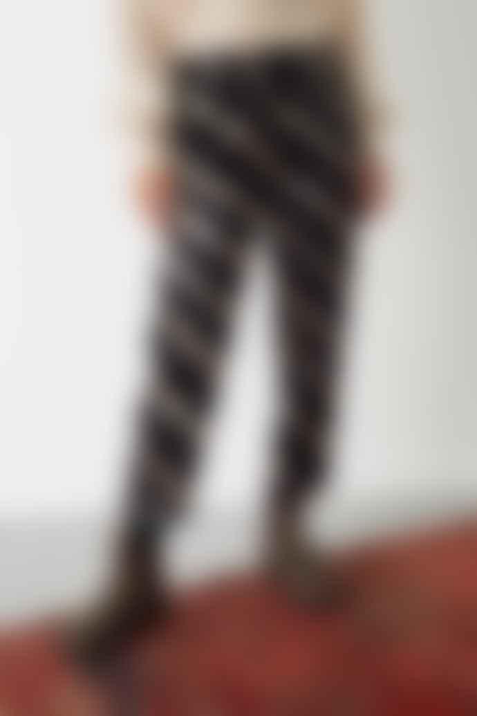 Leon & Harper Plume Tie Dye Black Trousers