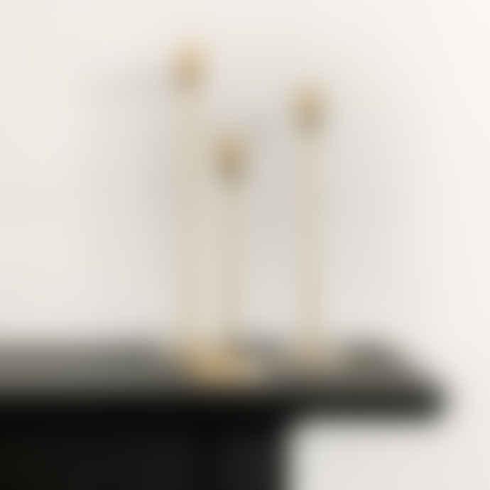 Light & Living Gold Candlestick Small