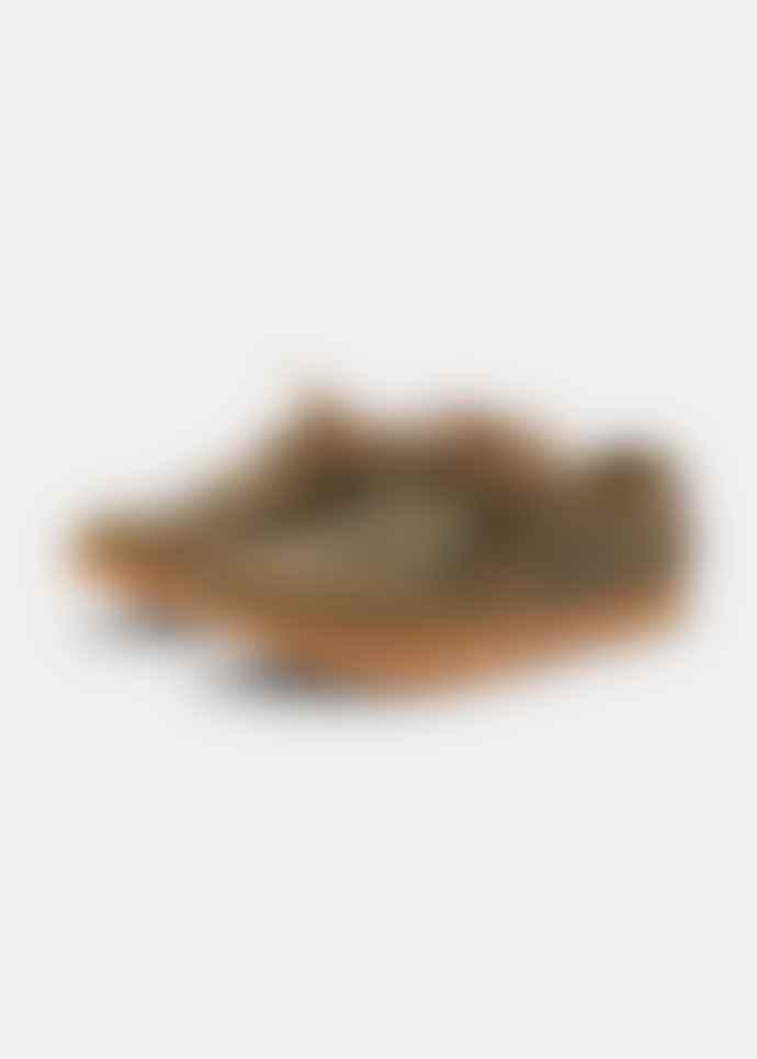 Yogi Footwear  Yogi x YMC Orson Tumbled Leather Negative Heel Olive Shoes