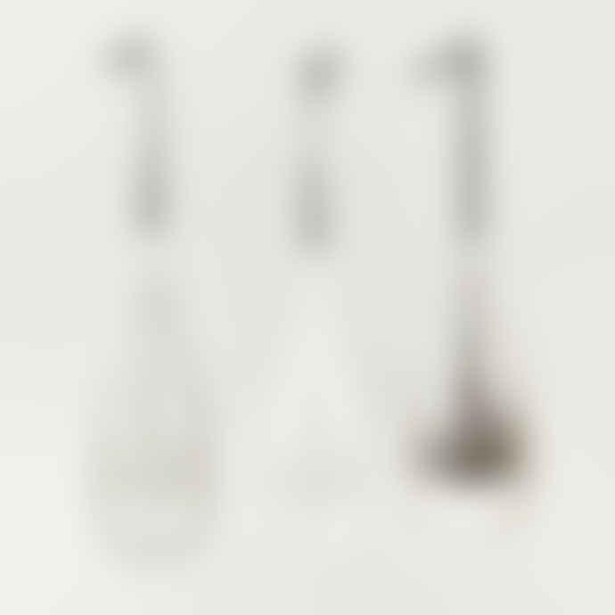 Nkuku Tikari Glass Baubles - Set of 3 - Large