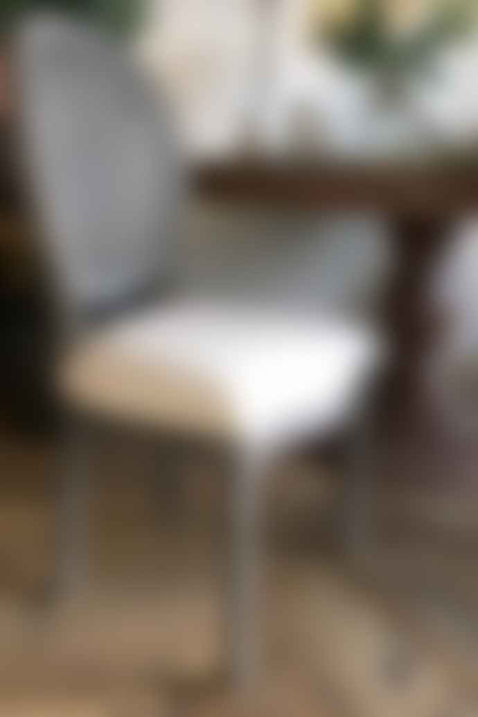 Cotswold Grey Lille Chair Grey With White Linen