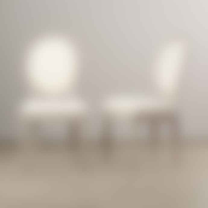 Cotswold Grey Lyon Chair Light With White Linen