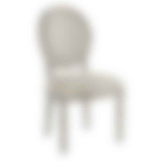 Cotswold Grey Lyon Chair Grey With Natural Linen