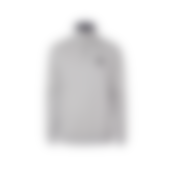 Les Deux Clinton Half Zip Sweatshirt - Light Grey Melange/Black