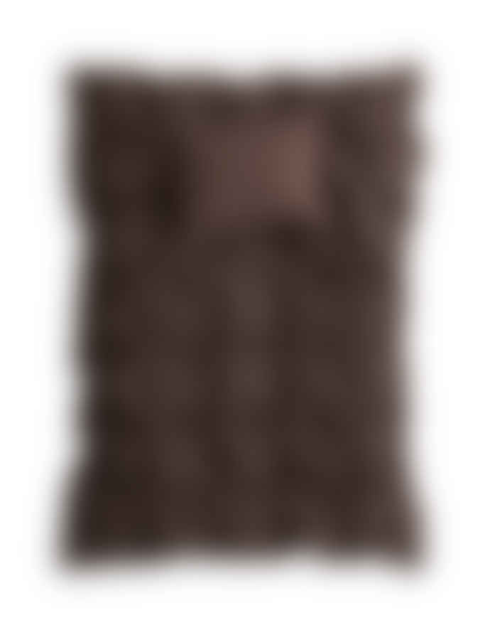 AB Småland 230 x 220cm Dark Brown Linen Duvet Cover with 2 Pillowcase