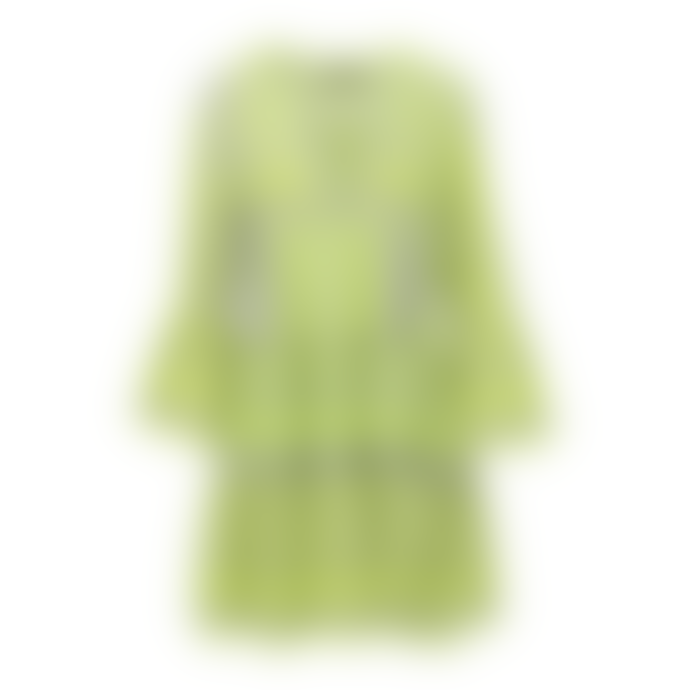 Devotion Twins Grneli Embroidery Zakar Dress Neon Lime