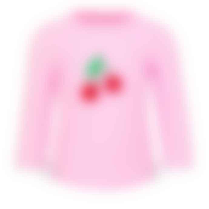 Sunuva Girls Pink Sunuva Cherries Rash Vest