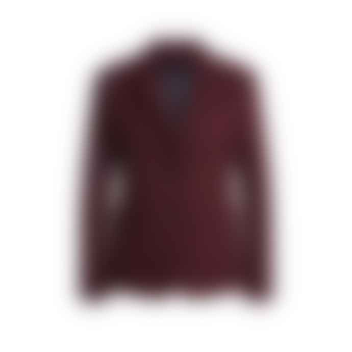 Set Fashion Deep Burgundy Set Fitted Blazer Amerone