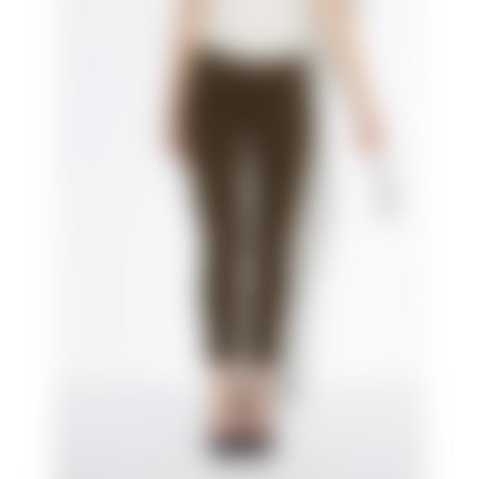 Reiko Khaki Princy Chino Trousers