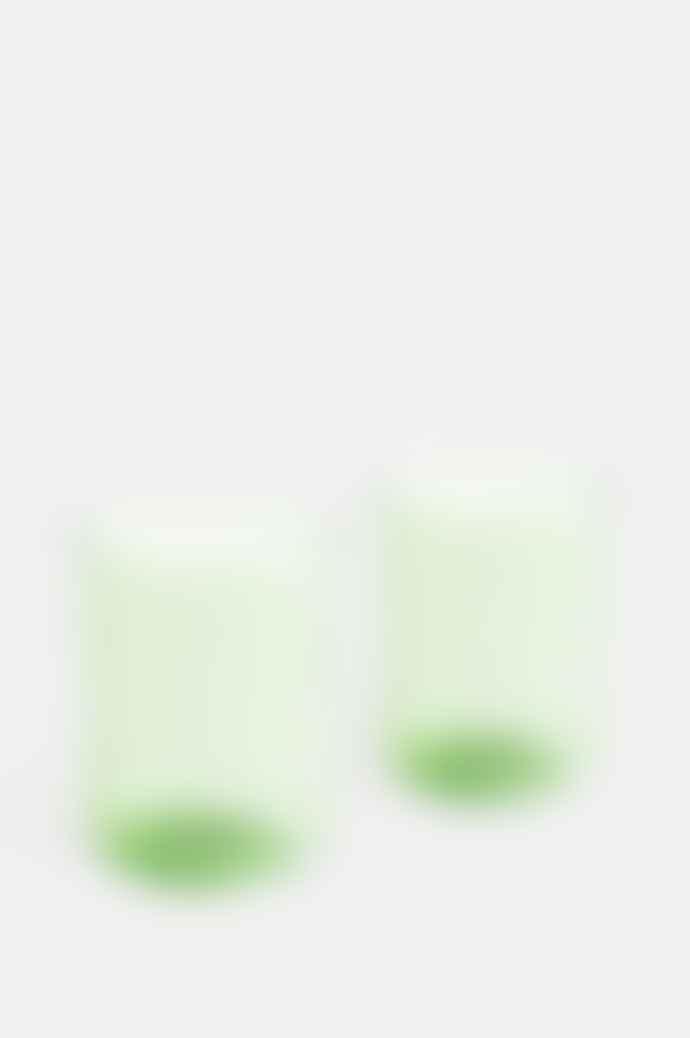 HAY Set Of 2 Green Tint Tumblers