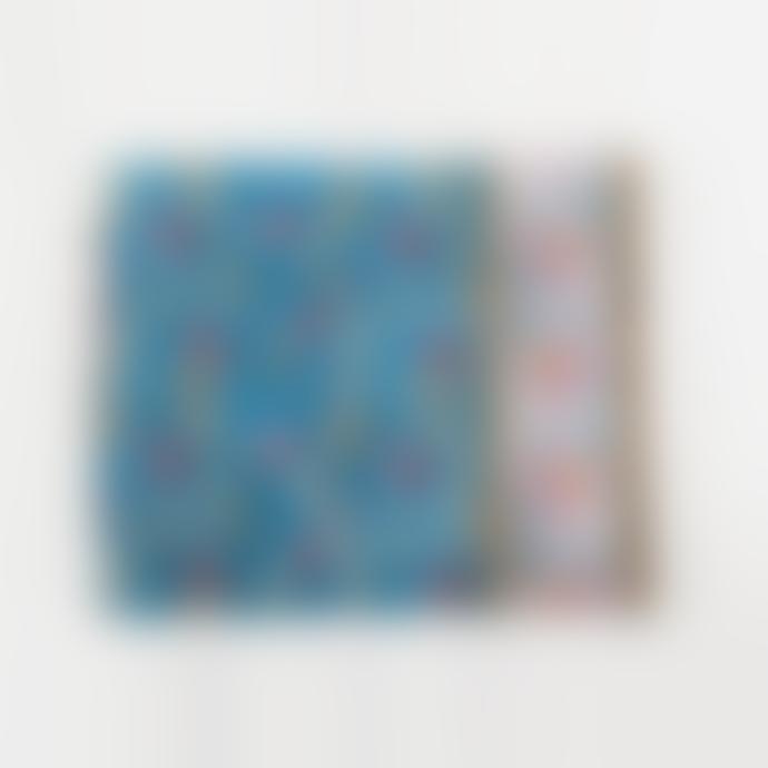 Jamini Anamika Blue Jean Printed Tablecloth 55.1 x 92.5 Inches