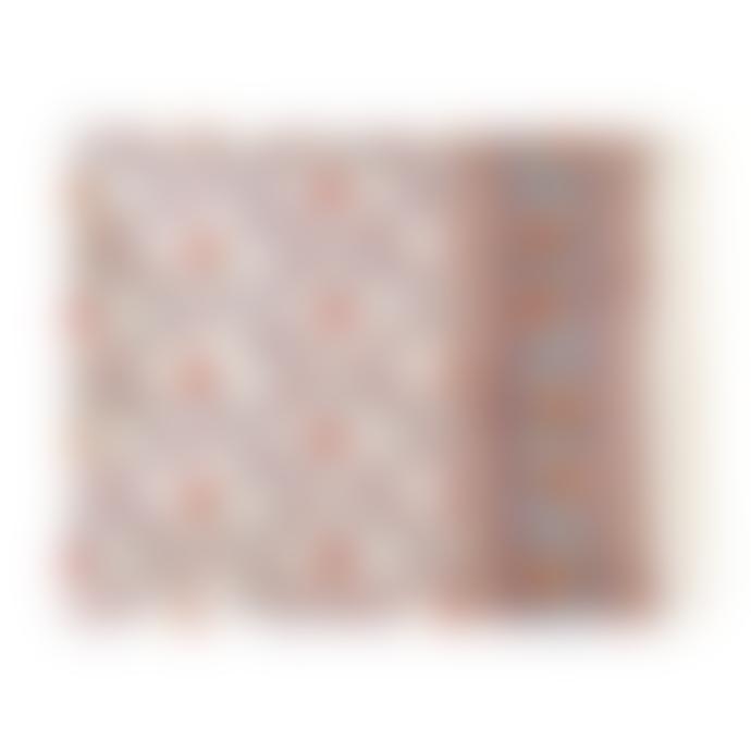 Jamini Anima Offwhite Rectangle Hand Printed Table Cloth  55.1 x 92.5 Inches