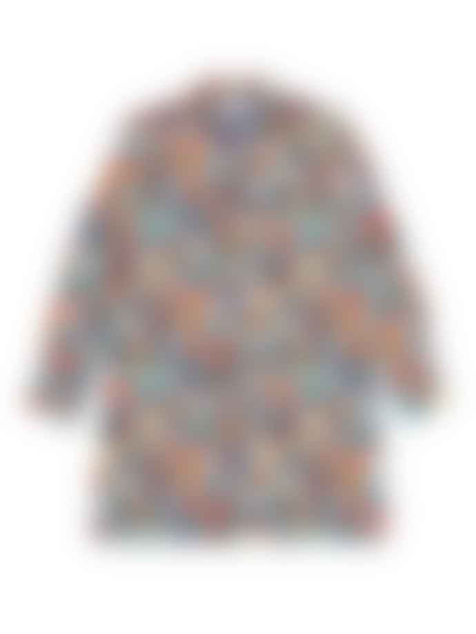 Ganni Printed Mesh Shirt Multicolour