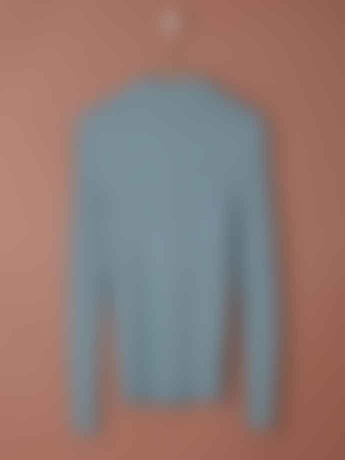 Indi & Cold Ribbed Viscose Sweater in Teal