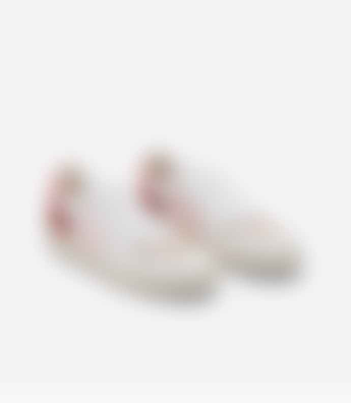Veja V 10 White Petale Rose Fluro Leather Sneakers