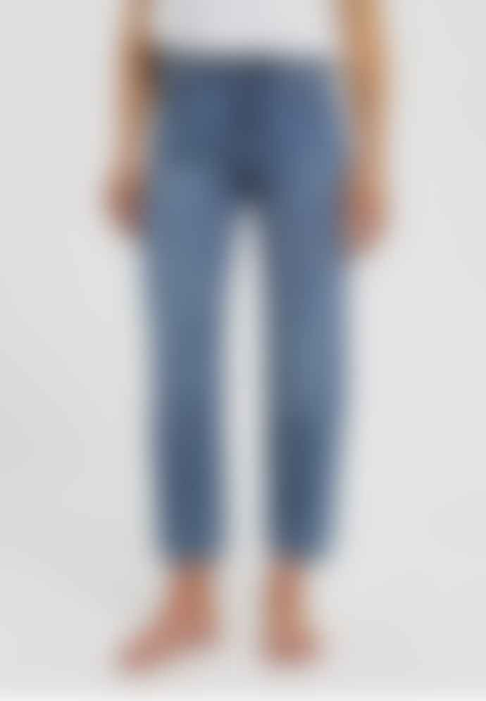 Armedangels Fjellaa Cropped Straight Fit Mid Waist Jeans