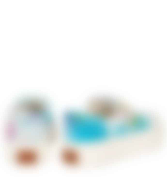 Good News  Softball Corduroy Tie Dye Sneakers Blue Pink
