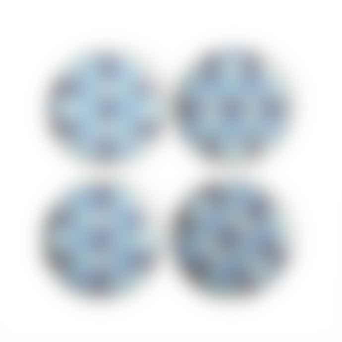 Jonathan Adler Set of 4 Blue Sorrento Coasters